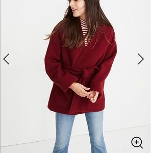Madewell Wool Blend Belted Wrap Coat Size M NWT